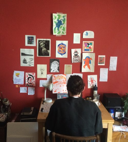 Jack at work in his studio