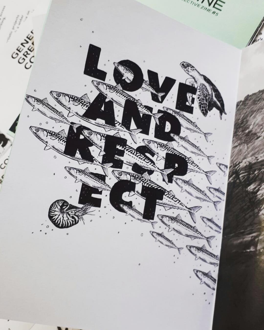 "Page by Tash Willcocks from Green Zine - ""Love and respect"""