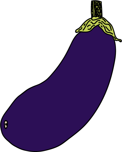Illustration of an aubergine, by Will Berry